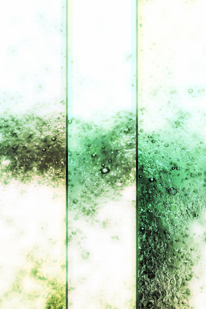 verticals: Light vertical banners backgrounds set of white and green drink bubbles