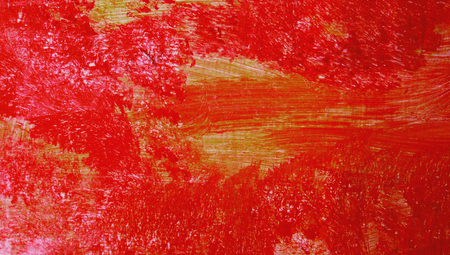 closeups: Red paint texture abstract background stock image Stock Photo