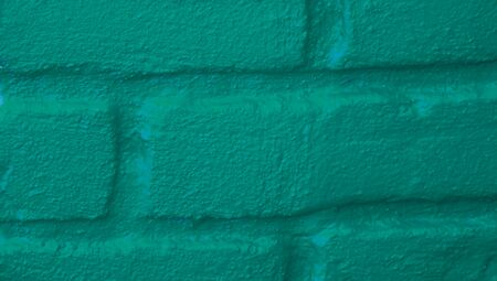 close ups: Brick closeup painted with emerald green color