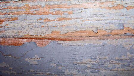 oldish: Vintage crackeled paint background on old wood Stock Photo