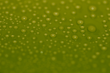 olive green: Water drops olive green abstract background close up macro