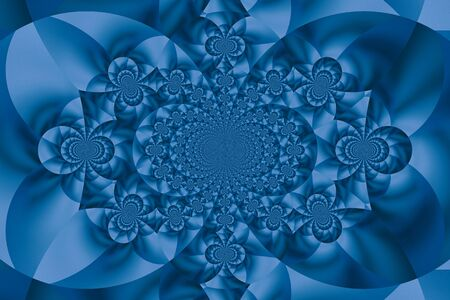 symmetrical: Symmetrical blue fractal abstract background