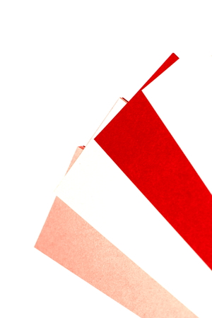 selector: Red paper color selector on white abstract background Stock Photo