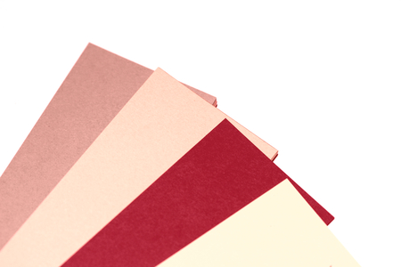 diagonals: Pink papers palette isolated on white abstract background