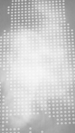 bn: Grey techno dotted abstract background