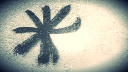 bn: Asterisk sign grafitti paint abstract background