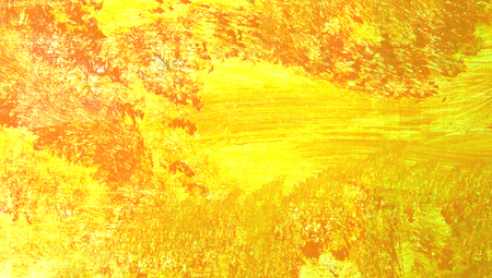 abstract paint: Yellow abstract paint brushes background detail Stock Photo