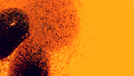 brilliant   undersea: Orange liquid background with dark drop