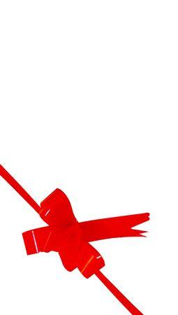 aniversary: Red gift ribbon