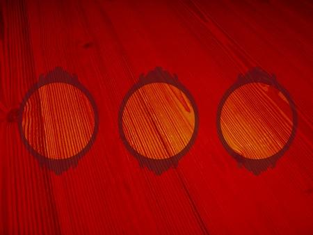 femenine: Wood background with empty circular frames