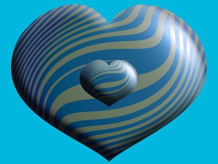 Blue heart balloon closeup