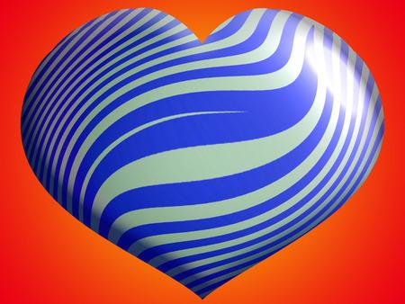 heart balloon: Blue heart balloon toy