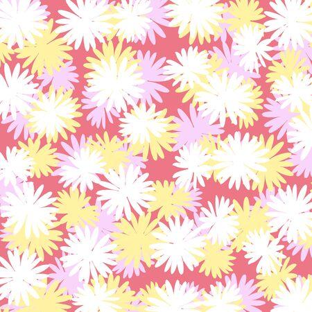 femenine: Multicolor flowers composition background