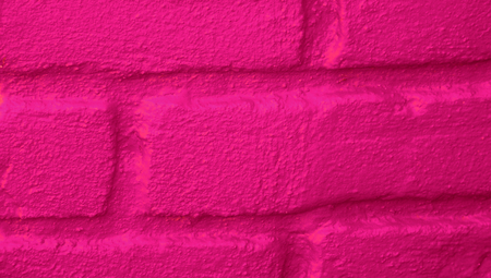 closeups: Pink tiles lines abstract background of bricks close up
