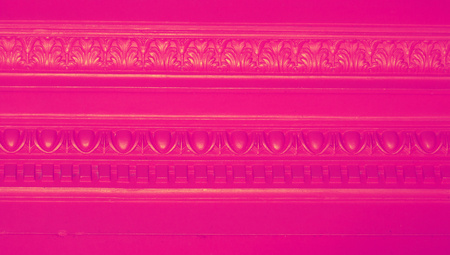 closeups: Pink elegant molding ornament background close up