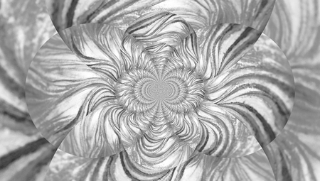 brushwork: Caleidoscope tunnel of lines in black and white