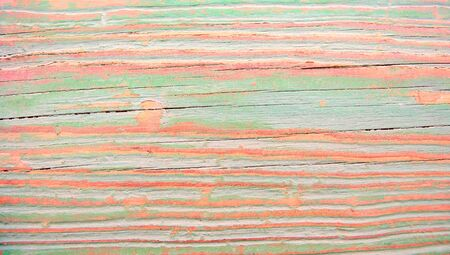greenish blue: Duotone old grunge wood stripes abstract background Stock Photo