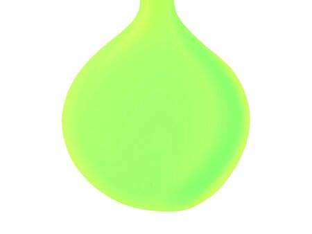 sweaty: Green eco oil drop shape isolated on white background Stock Photo