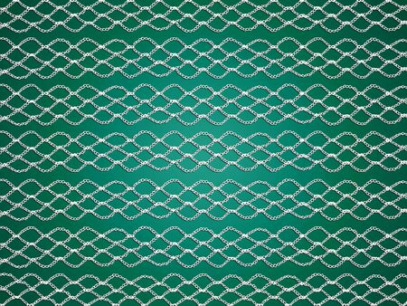 purls: Crochet pattern lines abstract background for green christmas