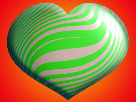 aniversaries: Green heart of stripes toy
