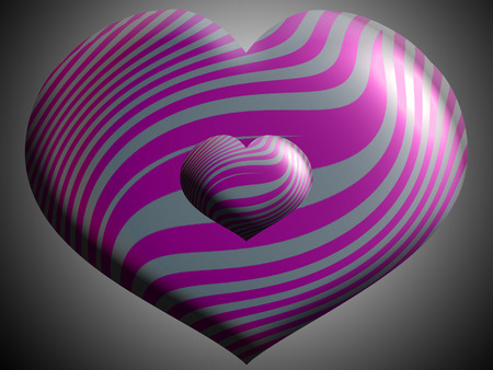 aniversaries: Purple stripes on heart balloons shapes