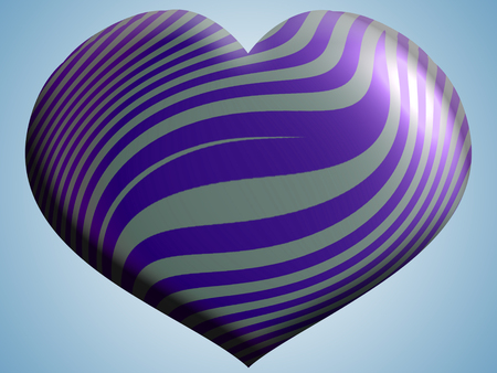 clean sky: Blue heart balloon on clean sky Stock Photo