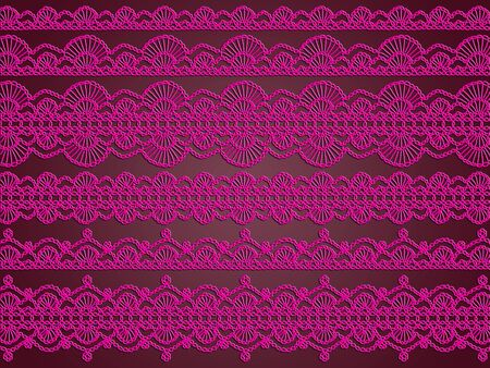 needle laces: Purple crochet laces abstract background
