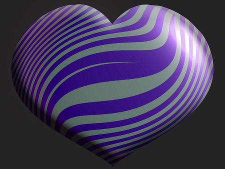 aniversaries: Dark background with striped blue heart shape