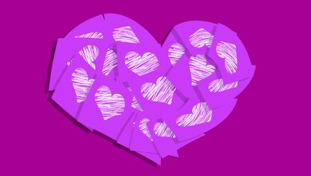 communicated: Purple color love romantic heart symbol abstract background
