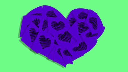 february 1: Office memos of love abstract background