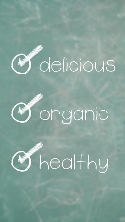 requirements: Food requirements list, delicious, organic, healthy