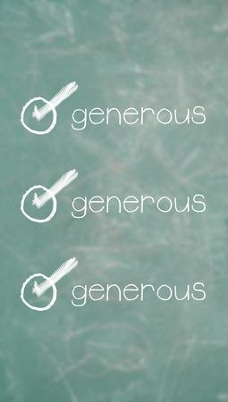 generoso: requisito generosa de una simple lista