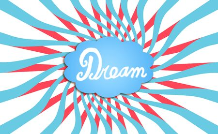 contrasting: Dream cloud illustration