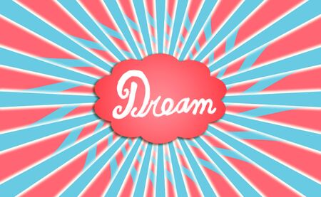 simetric: Dream generator cloud with radial rays