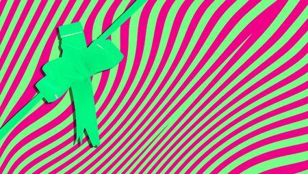 fuchsia color: Christmas present Stock Photo