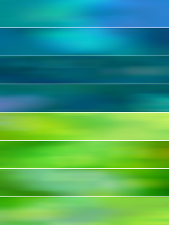 sequences: Blue and green banners blurs abstract backgrounds Stock Photo