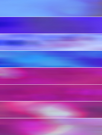 animate: Purple and blue blurs banners backgrounds set Stock Photo