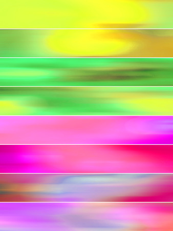 sequences: Pink and green vibrant blurs abstract backgrounds banners set Stock Photo