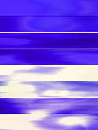 sequences: Blue banners abstract background with blurs Stock Photo