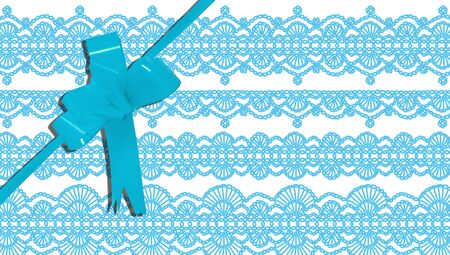 b day party: Turquoise present paper design with blue ribbon