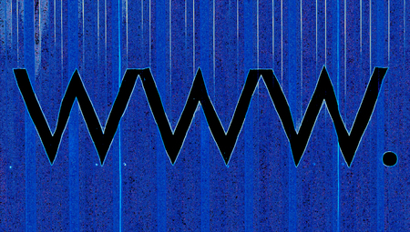 typographies: Www on blue abstract internet background