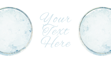 copyspace: Two cold glasses with white copyspace background Stock Photo