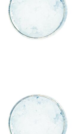 close ups: Couple of glasses top view isolated on white background