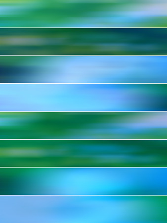 sequences: Blue blurred banners lines backgrounds Stock Photo