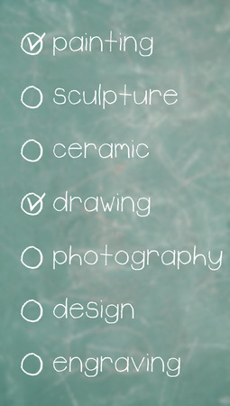 disciplines: Painting and drawing choose on a list of art disciplines