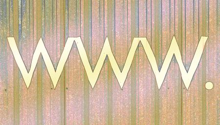 typographies: Www internet signs abstract background on beige Stock Photo