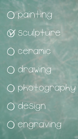 multiple choice: Multiple choice list of arts