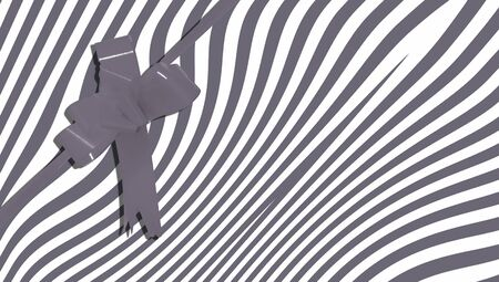 bn: Surprise background for a gift in black and white stripes