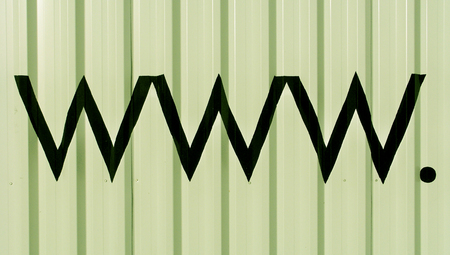 typographies: Pale green background with www abstract signs Stock Photo