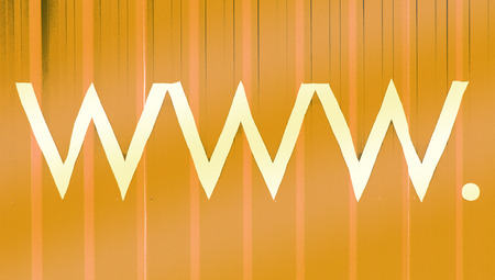 typographies: Internet signs abstract stripes yellow background